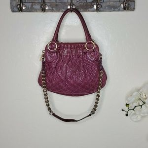 Marc Jacobs Purple Python Embossed Quilted Purse